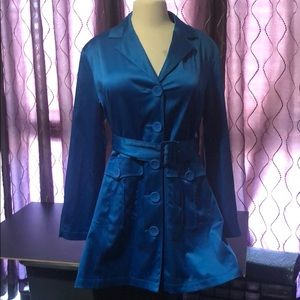 🎉JH Collectibles Ladies Blue Trench Coat